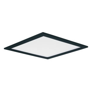 Wafer Black Nine-Inch Square LED Flush Mount