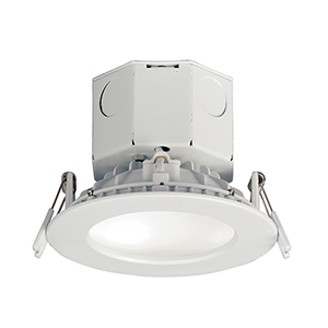 Cove White Four-Inch LED/Energy Star/Title 24 Flush Mount