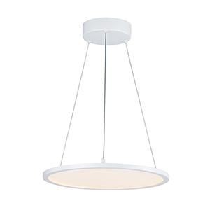 Wafer White Integrated LED Round Pendant