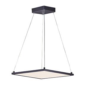 Wafer Bronze Integrated LED Square Pendant