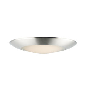 Diverse Satin Nickel 11-Inch LED Flush Mount