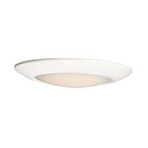 Diverse White 11-Inch 4000K LED Flush Mount Title 24