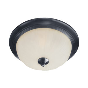 Essentials 583x Black Two-Light Flush Mount