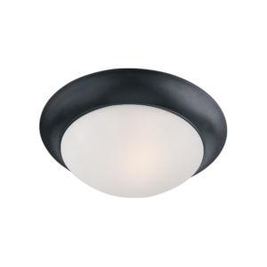 Essentials 585x Black Two-Light Flush Mount