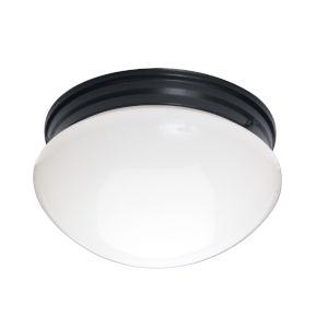 Essentials 588x Black Two-Light Flush Mount