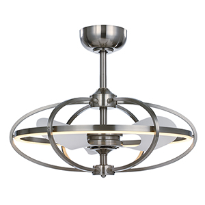 Corona Satin Nickel 27-Inch LED Fandelier