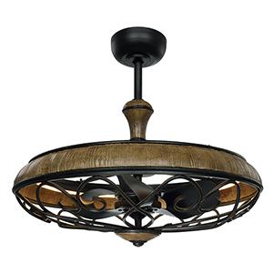 Tuscany Driftwood and Iron Ore 30-Inch LED Fandelier