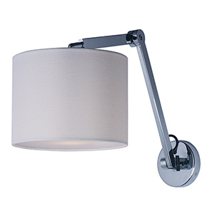 Hotel Polished Chrome Seven-Inch LED Wall Sconce