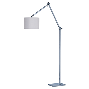 Hotel Polished Chrome 11-Inch LED Floor Lamp