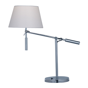 Hotel Polished Chrome 10-Inch LED Adjustable Table Lamp
