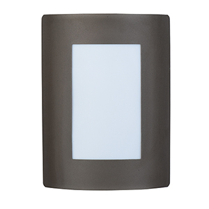 View LED E26 Bronze Eight-Inch One-Light Outdoor Wall Mount