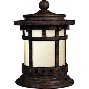 Santa Barbara LED E26 Sienna 10-Inch One-Light Outdoor Lantern