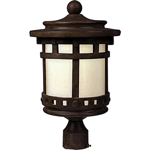 Santa Barbara LED E26 Sienna Nine-Inch One-Light Outdoor Post Mount