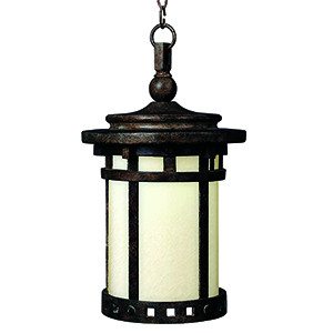 Santa Barbara LED E26 Sienna Nine-Inch One-Light Outdoor Hanging Lantern