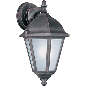 Westlake LED E26 Rust Patina Eight-Inch LED Outdoor Wall Mount