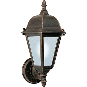 Westlake LED E26 Rust Patina Eight-Inch One-Light Outdoor Wall Mount
