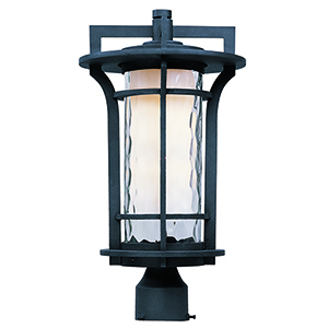 Oakville LED E26 Black Oxide 10-Inch One-Light Outdoor Post Mount