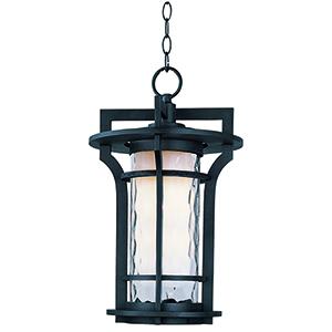 Oakville LED E26 Black Oxide 12-Inch One-Light Outdoor Hanging Lantern