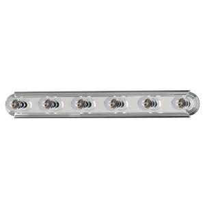 Essentials - 712X 36-Inch Polished Chrome Six-Light Bath Vanity