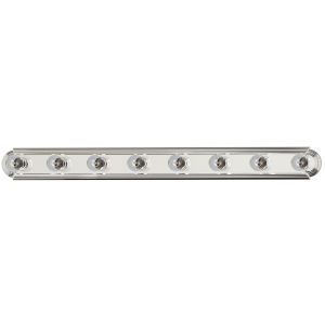 Essentials - 712X 48-Inch Polished Chrome Eight-Light S Bath Vanity