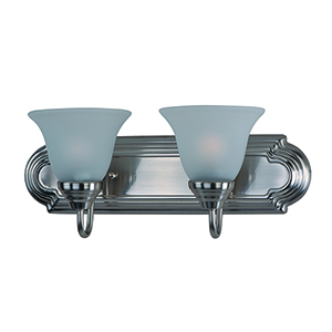 Essentials - 801x Satin Nickel 18-Inch Two-Light Bath Vanity