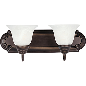 Essentials - 801x Oil Rubbed Bronze 18-Inch Two-Light Bath Vanity