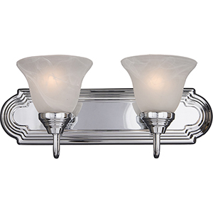 Essentials - 801x Polished Chrome 18-Inch Two-Light Bath Vanity
