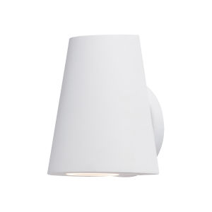 Mini White Five-Inch LED Outdoor Wall Sconce