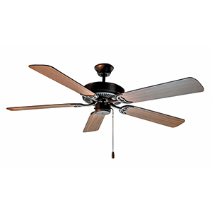 Basic-Max Oil Rubbed Bronze, Walnut, and Pecan 52-Inch Ceiling Fan