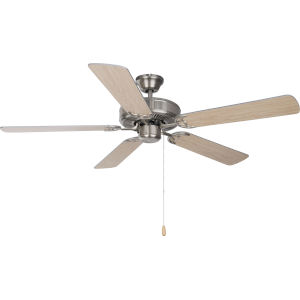 Basic-Max Satin Nickel and Silver and Maple 52-Inch Ceiling Fan
