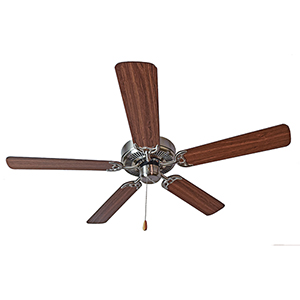 Basic-Max Satin Nickel, Walnut, and Pecan 52-Inch Ceiling Fan