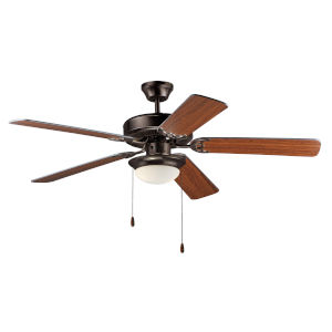 Basic-Max 52 Inch Ceiling Fan with LED Light Oil Rubbed Bronze, Walnut and Pecan Blades