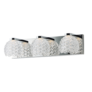 Fringe Polished Chrome 20-Inch LED Bath Vanity