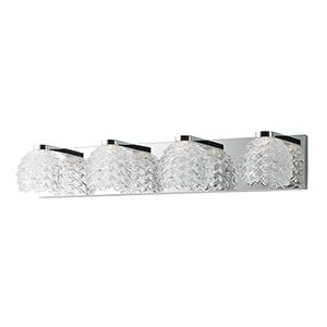 Fringe Polished Chrome 28-Inch LED Bath Vanity
