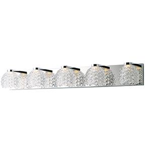 Fringe Polished Chrome 36-Inch LED Bath Vanity