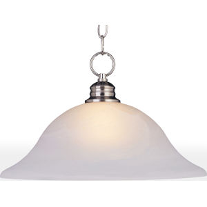 Essentials Satin Nickel 16-Inch One-Light Adjustable Pendant