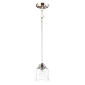 Acadia Satin Nickel One-Light Mini Pendant