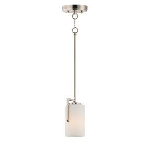 Dart Satin Nickel One-Light Mini Pendant