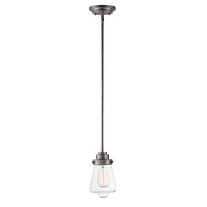 Cape Cod Weathered Zinc Five-Inch One-Light Mini Pendant