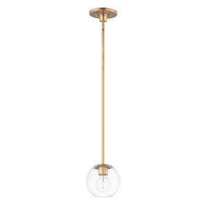 Branch Natural Aged Brass One-Light Mini Pendant