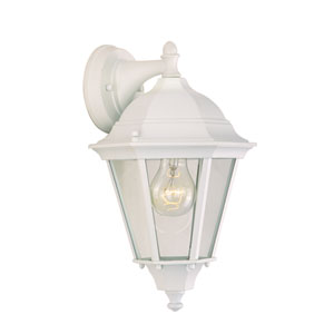 Westlake White One-Light Eight-Inch Outdoor Wall Sconce