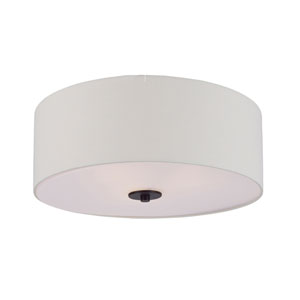 Bongo Oil Rubbed Bronze Three-Light Flush Mount