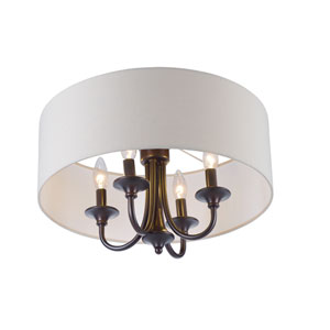 Bongo Oil Rubbed Bronze Four-Light Semi-Flush Mount