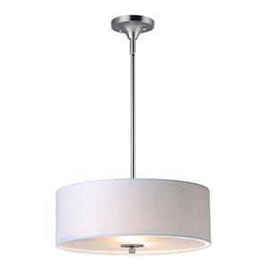Bongo Satin Nickel Three-Light Pendant