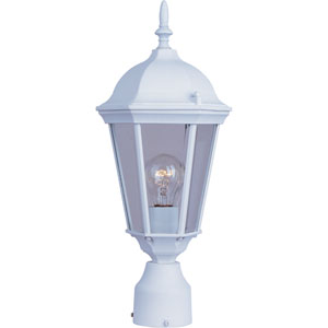 Westlake White One-Light Outdoor Post