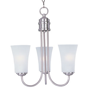 Logan Satin Nickel Three-Light Single-Tier Chandelier