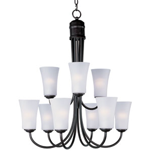 Logan Oil Rubbed Bronze Nine-Light Multi-Tier Chandelier