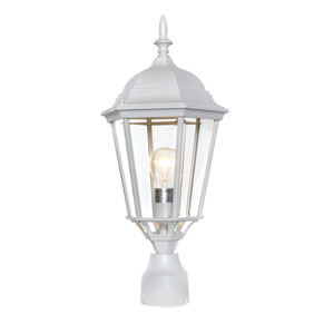 Westlake White Cast One-Light Outdoor Pole/Post Lantern