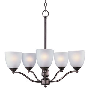 Stefan Oil Rubbed Bronze Five-Light Single-Tier Chandelier