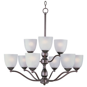 Stefan Oil Rubbed Bronze Nine-Light Multi-Tier Chandelier